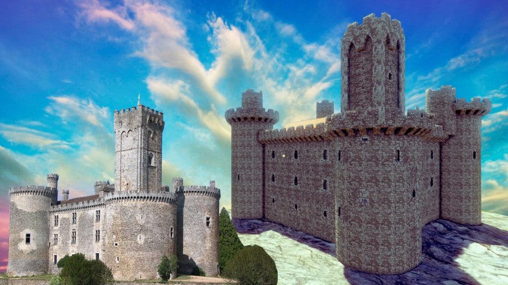 Reproduction de château Montbrun à l'aide de Medieval engineers