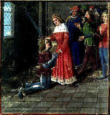 Adoubement Lancelot, Évrard d'Espinques, 1475 Bibliothèque Nationale de France