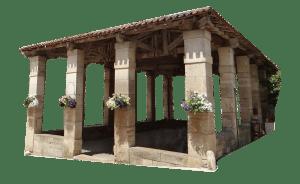 les halles de marché de Saint Antonin Noble Val