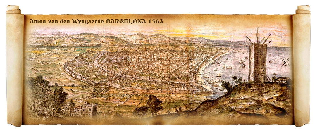 La Catalogne au Moyen-âge, Anton van den Wyngaerde 1563