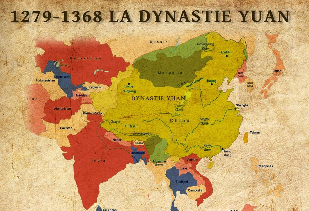 La dynastie Yuan du roi mongol et empereur de Chine Kubilai Khan