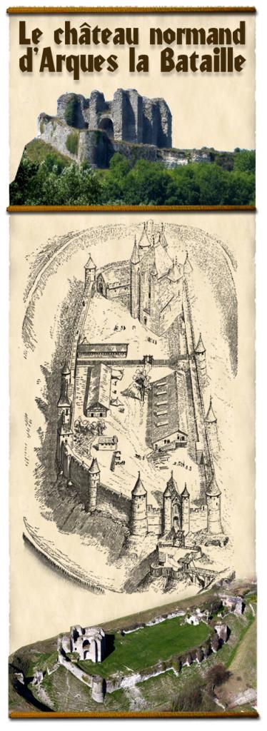 histoire_chateau_fort_medieval_moyen-age_chateau_normand_arques_viollet_le_duc
