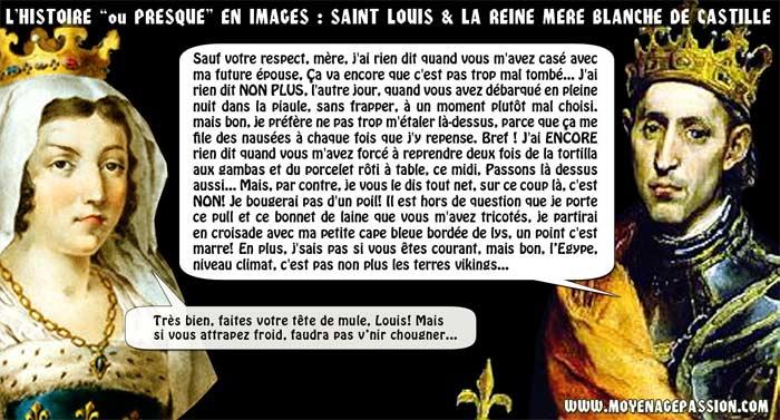humour medieval histoire Saint-Louis  Blanche de Castille Moyen âge