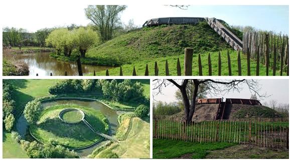 Vestiges d'une motte castrale du XIIe siècle, Flandre, Belgique, Evergem
