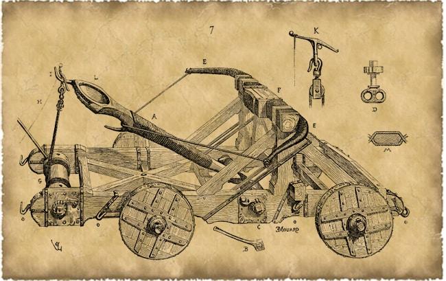 Baliste, pierrière : engins de siège et héritage de la poliorcétique greco-romaine