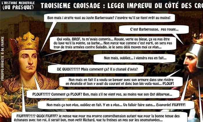 Troisieme croisade Philippe-Auguste Richard Coeur de Lion histoire medievale