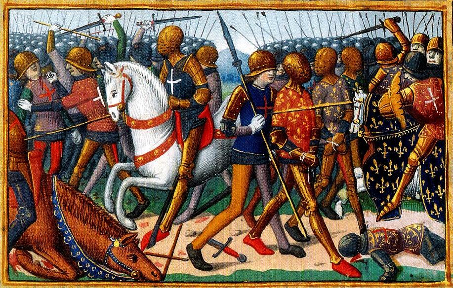 miniature du XVe, Martial d'Auvergne, manuscrit les Vigiles du roi Charles VII BnF