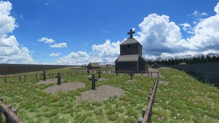 Motte castrale fictive cimetière derrière notre église du XIe siècle