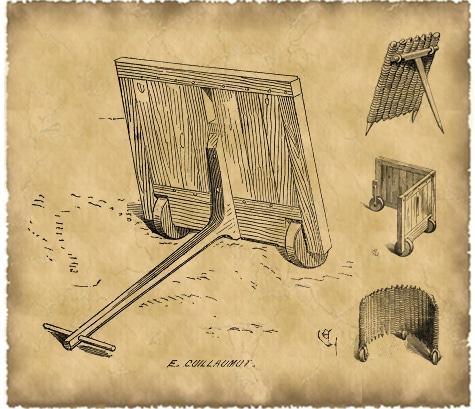 Gravures de E Guillermot, Dictionnaire raisonnée d'architecture médiévale, Eugène Viollet le Duc