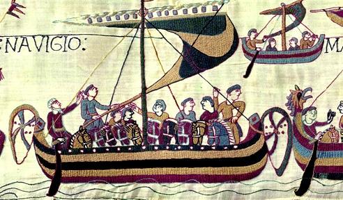 Tapisserie de Bayeux, XIe sècle, flotte et navires viking