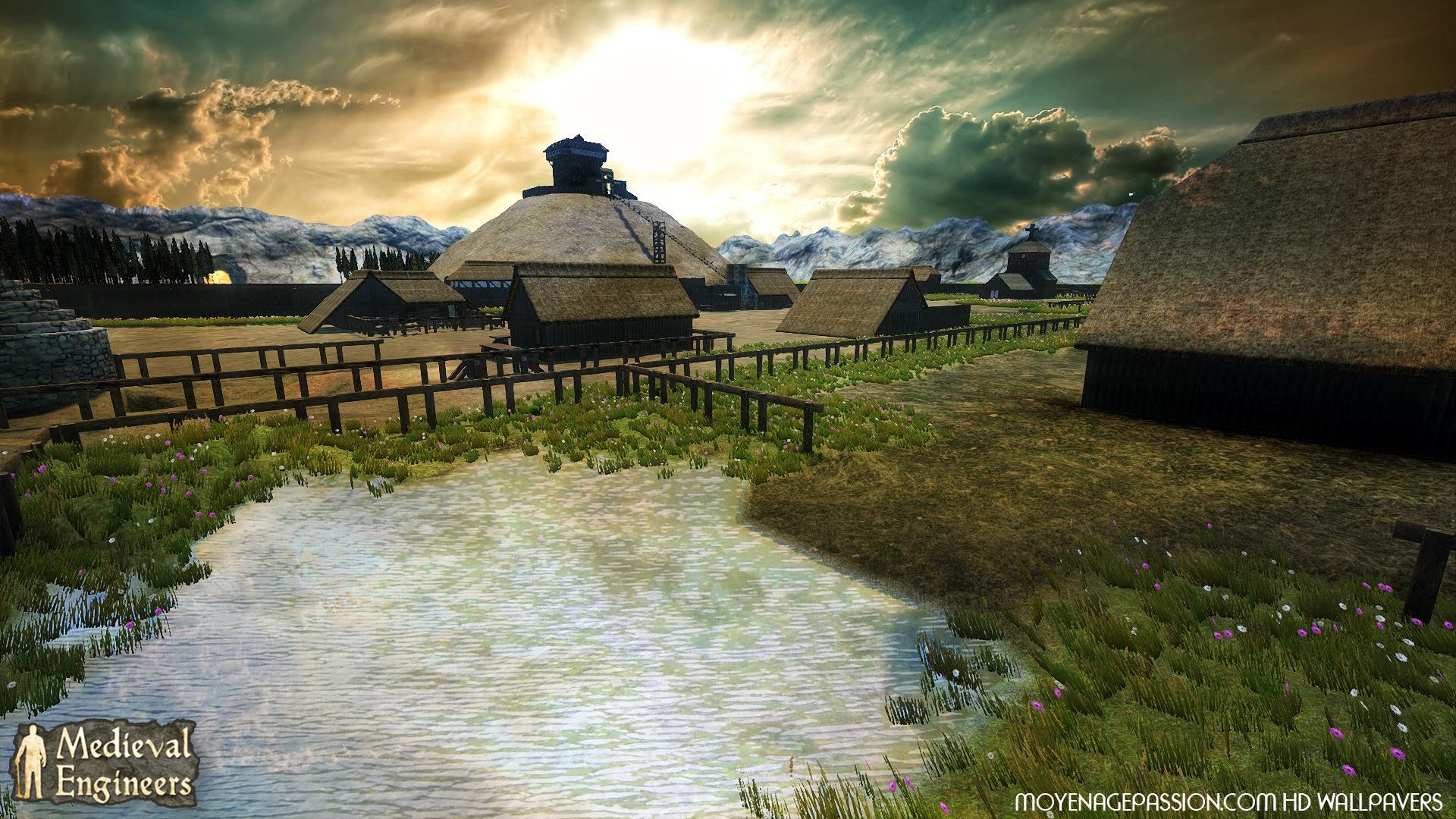 Mottes castrales ; monde médiéval, fond d'écrans gratuit
