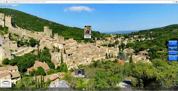 Visites virtuelles de village de charme et villages médiévaux