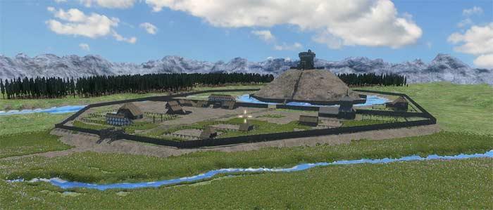 Reconstitution d'une Motte Castrale, XIe, début du XIIe