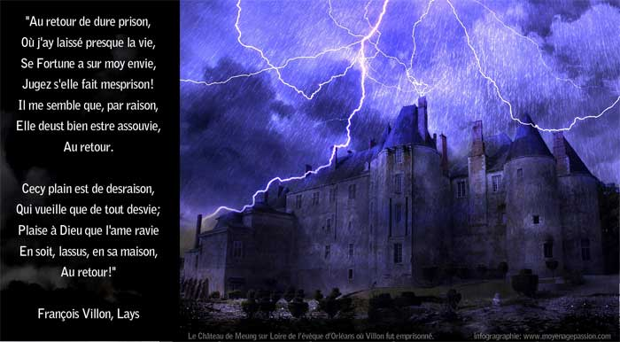 lays francois Villon poesie monde medievale  prison de meung