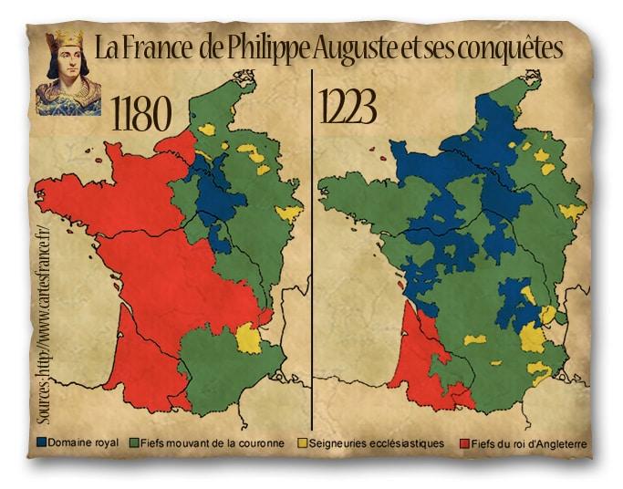 La France de Philippe-Auguste, XII, XIIIe siècle