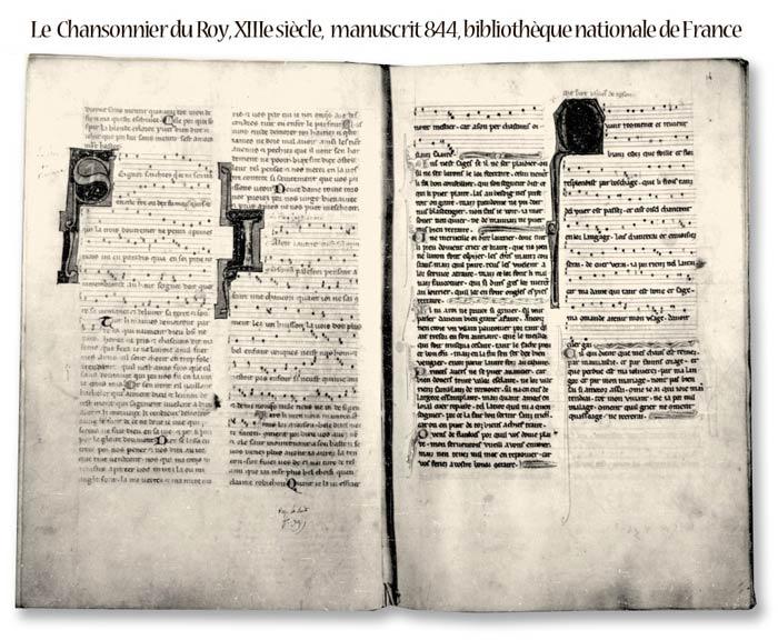 manuscrit du roi musique du monde medieval