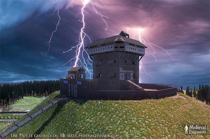 motte castrale XIIe siecle château à motte