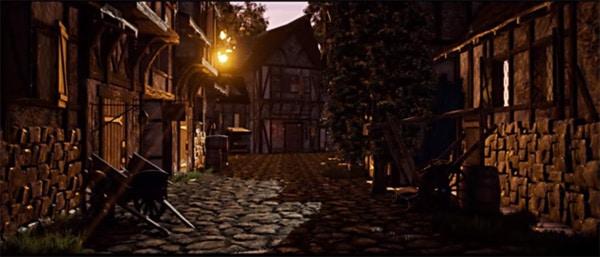 monde médiéval : une belle pièce d'infographie réalisée avec Unity3D