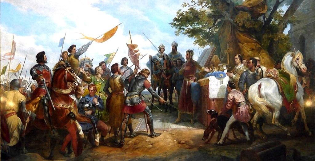 La Bataille de Bouvines, 1214, Tableau d'Horace Vernet, XIXe siècle, gallerie de Versailles