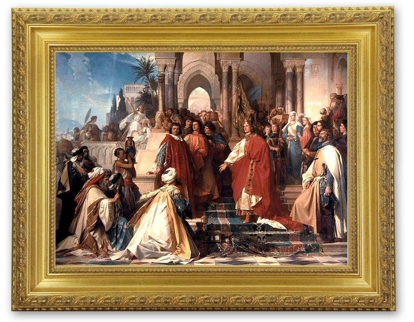 La cour de l'empereur Frédérick II à Palerme, XIXe siècle, Arthur von Ramberg