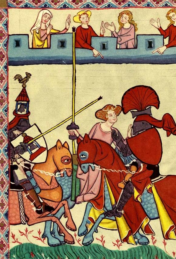Favori Ballade du tournoi d'Eustache Deschamps, poésie médiévale du XIVe  IC55