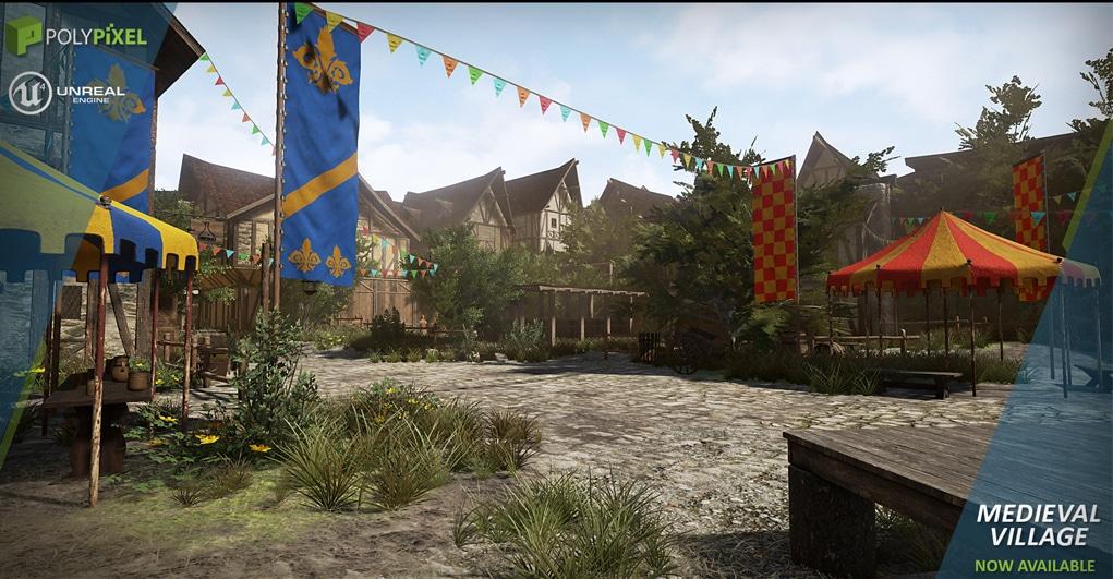 Autre monde médiéval créé avec le même Kit de création