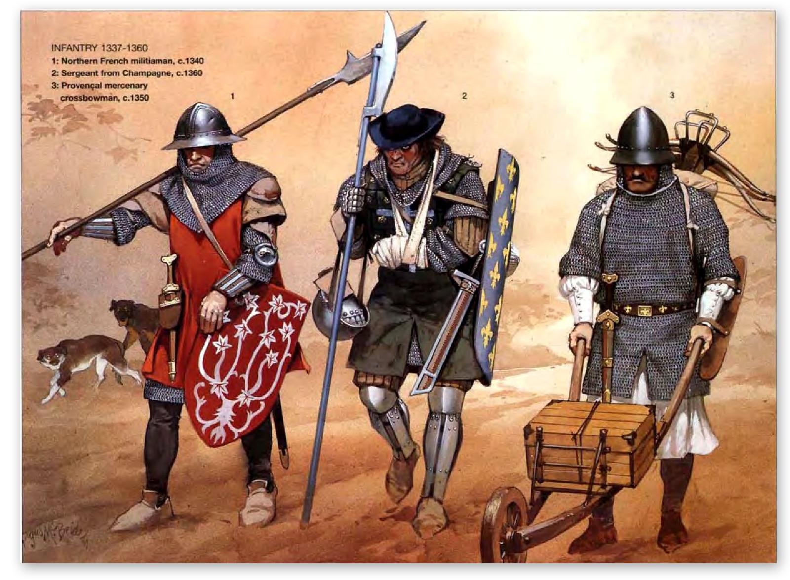 L'infanterie française pendant la guerre de cent ans. Angus Mcbride