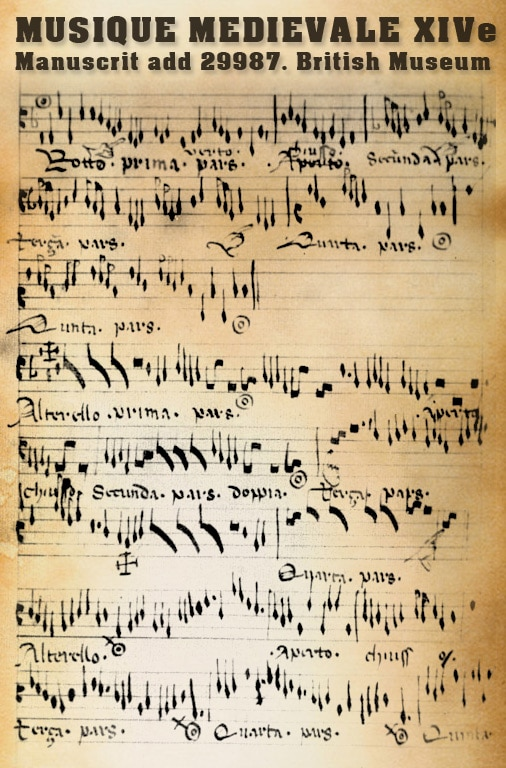 Add 29987 : un manuscrit de musiques anciennes et médiévales du XIVe