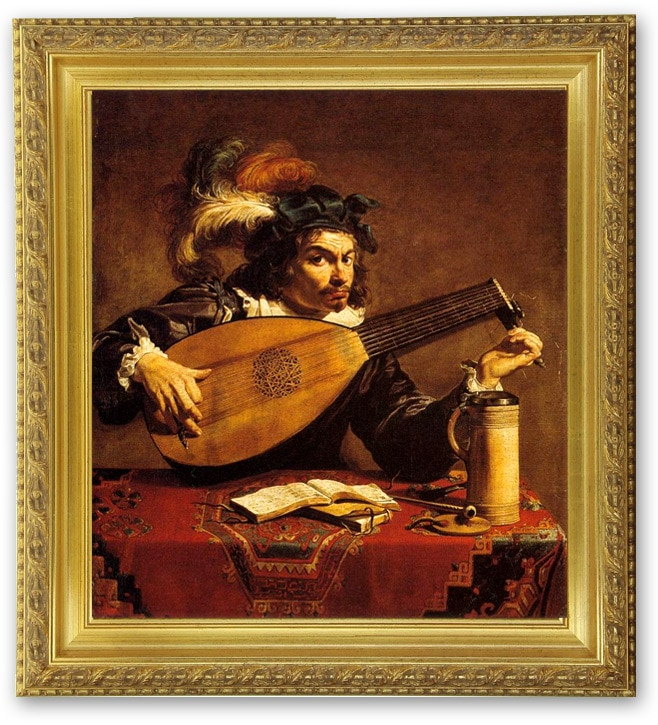 Theodor Rombouts -le joueur de Luth, (The Lute Player), XVIIe siècle