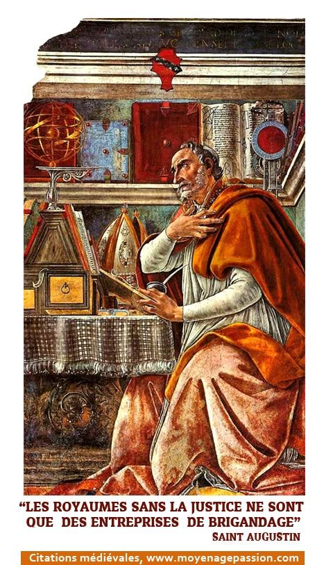 Saint Augustin d'Hippone dans son cabinet, par Sandro Botticelli, XVe siècle (1480)