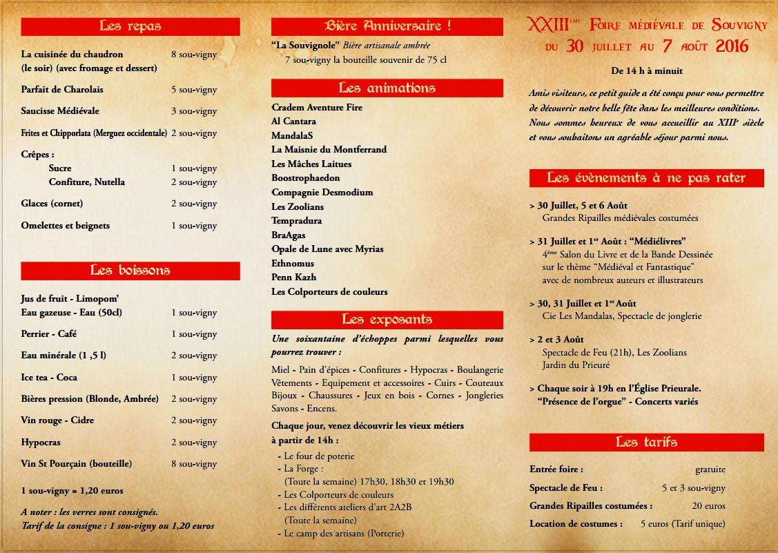 Un programme ambitieux et fourni pour les 23e médiévales de Souvigny
