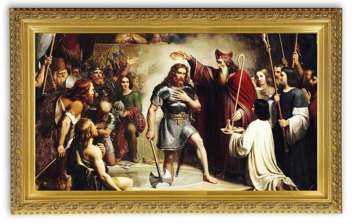 Baptême de Clovis histoire médiévale française