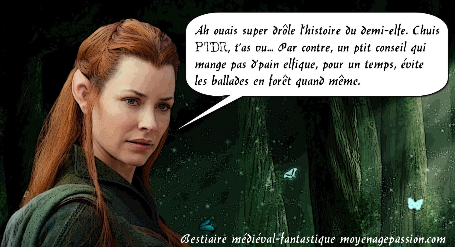 La très belle Tauriel, du Hobbit de Peter Jackson, ou le démenti de l'amour impossible entre elfe et nains