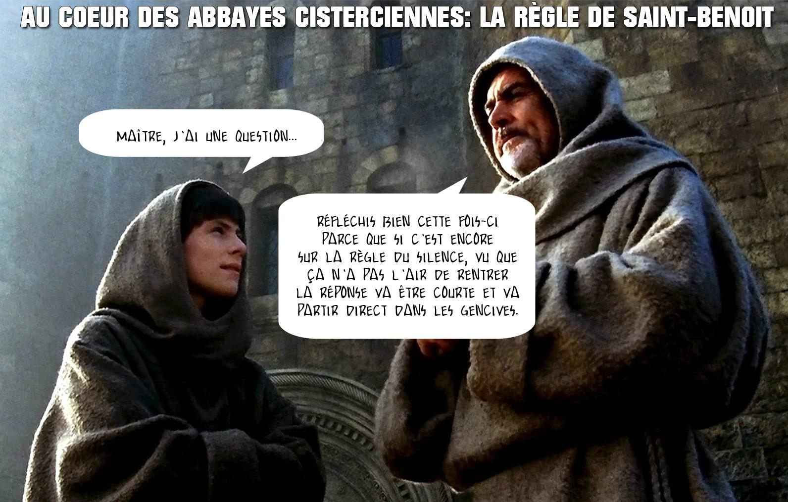 nom_rose_regle_saint_benoit_abbaye_cistercienne_clairvaux_monde_medieval_humour