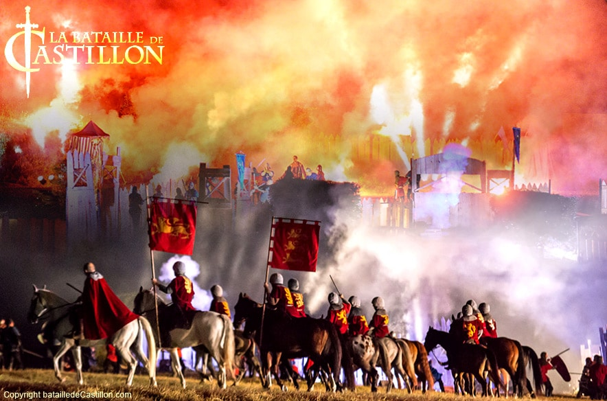 La bataille de Castillon: un spectacle unique pour se replonger au coeur du monde médiéval et de la guerre de cent ans.