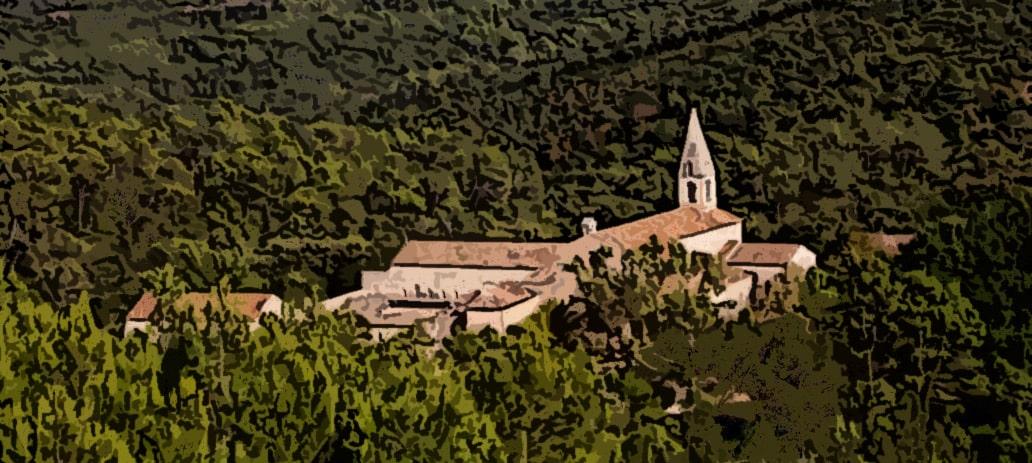 L'Abbaye cistercienne Thoronet, dans son écrin de verdure