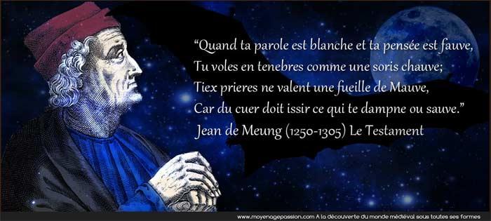 citation_medievale_jean_clopinel_meung_auteur_poete_testament_vieux_francais