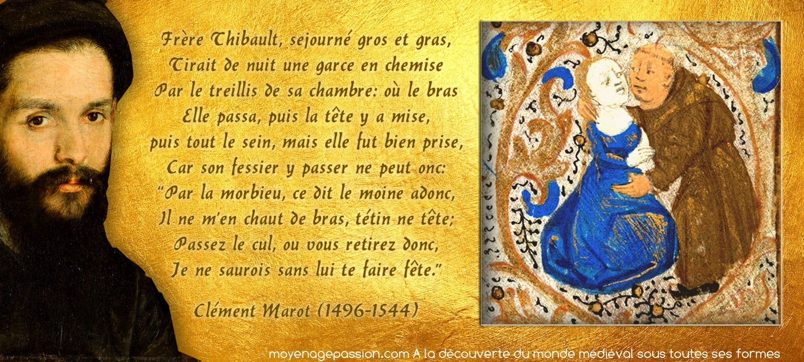 humour_poesie_medievale_epigramme_clement_marot_grivoiserie_moine_volage