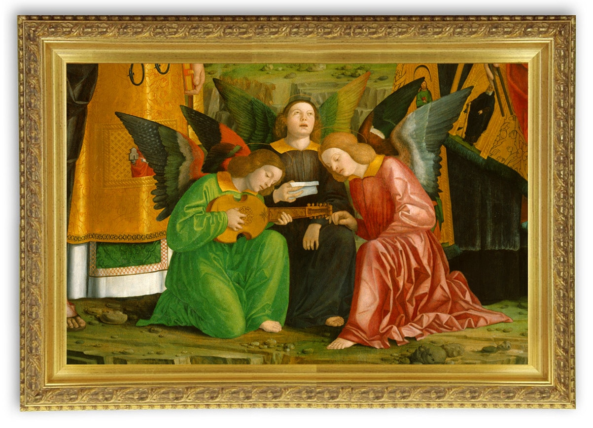 Vihuela_luth espagnol du moyen-âge tardif, détail d'une peinture de Girolamo Dia Libri (1520)