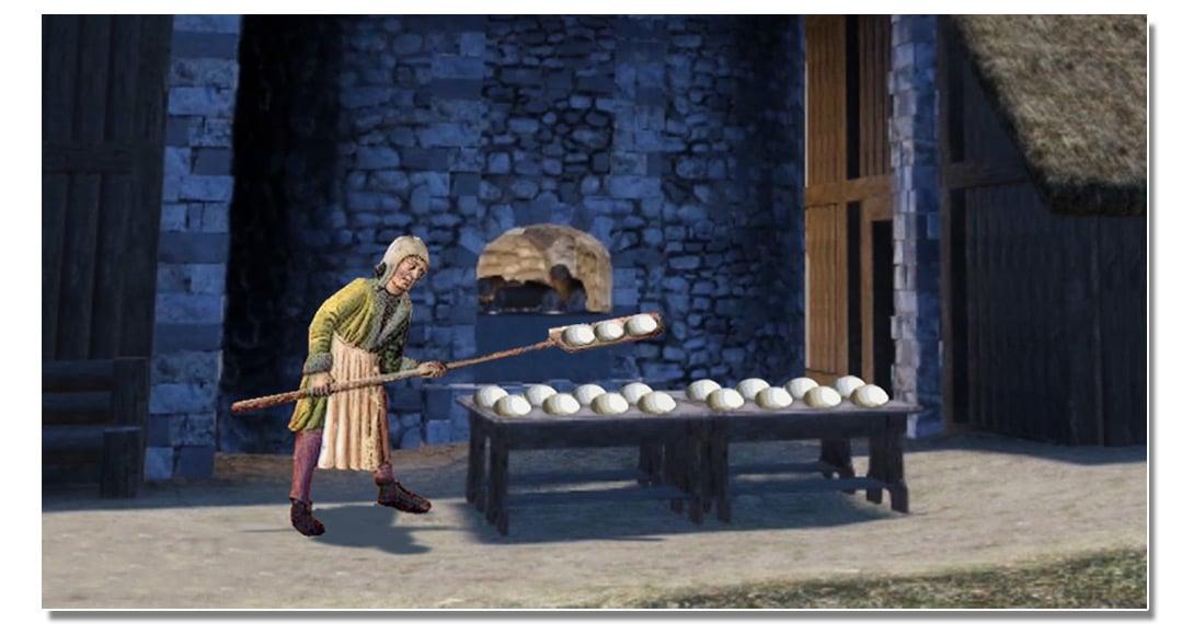 video_mottes_castrales_artisanat_pain_four_banal_monde_medieval_vie_moyen-age