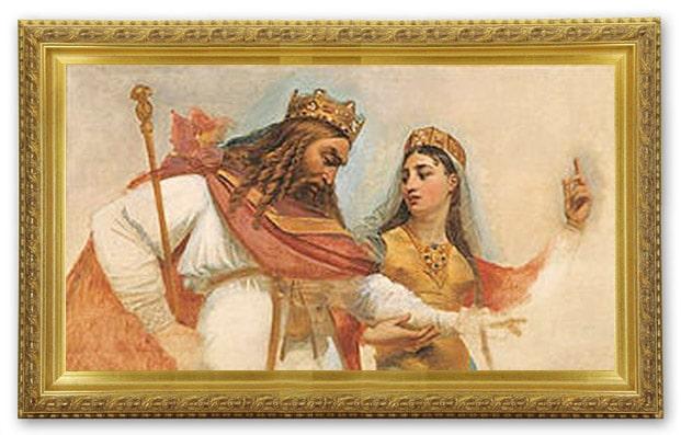 Clovis & Clotilde qui lui montre le Dieu unique, Antoine-Jean Gros, esquisse, XIXe siècle