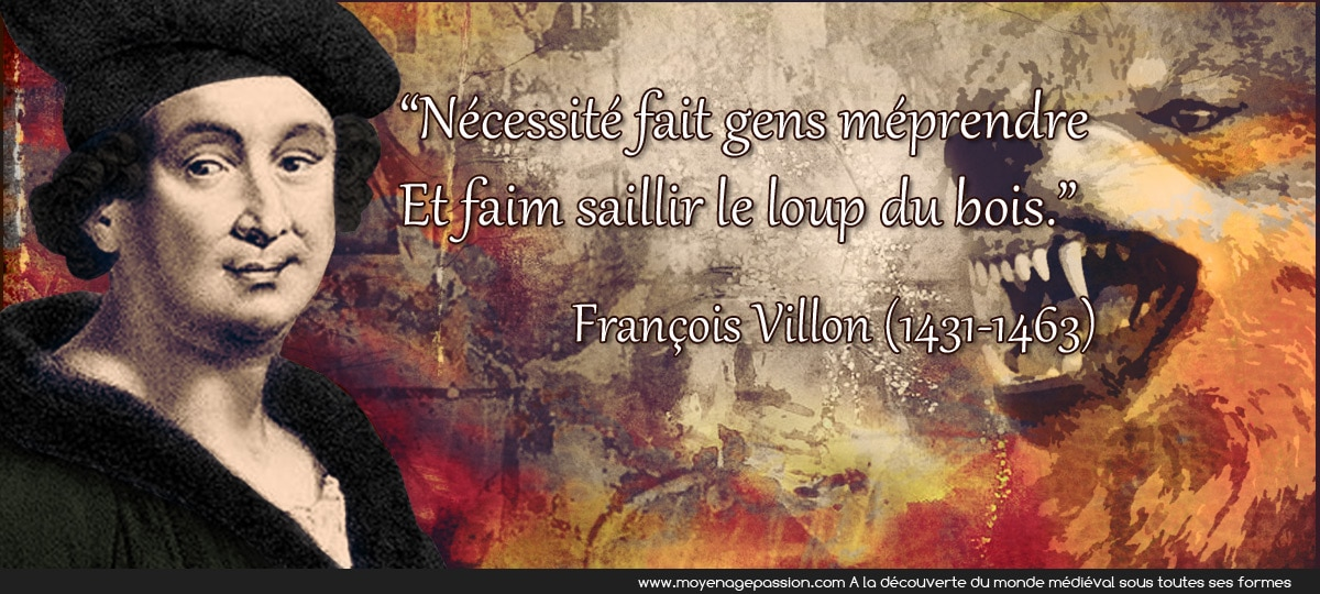 francois_villon_citations_médiévales_poesie_satirique_realiste_loup