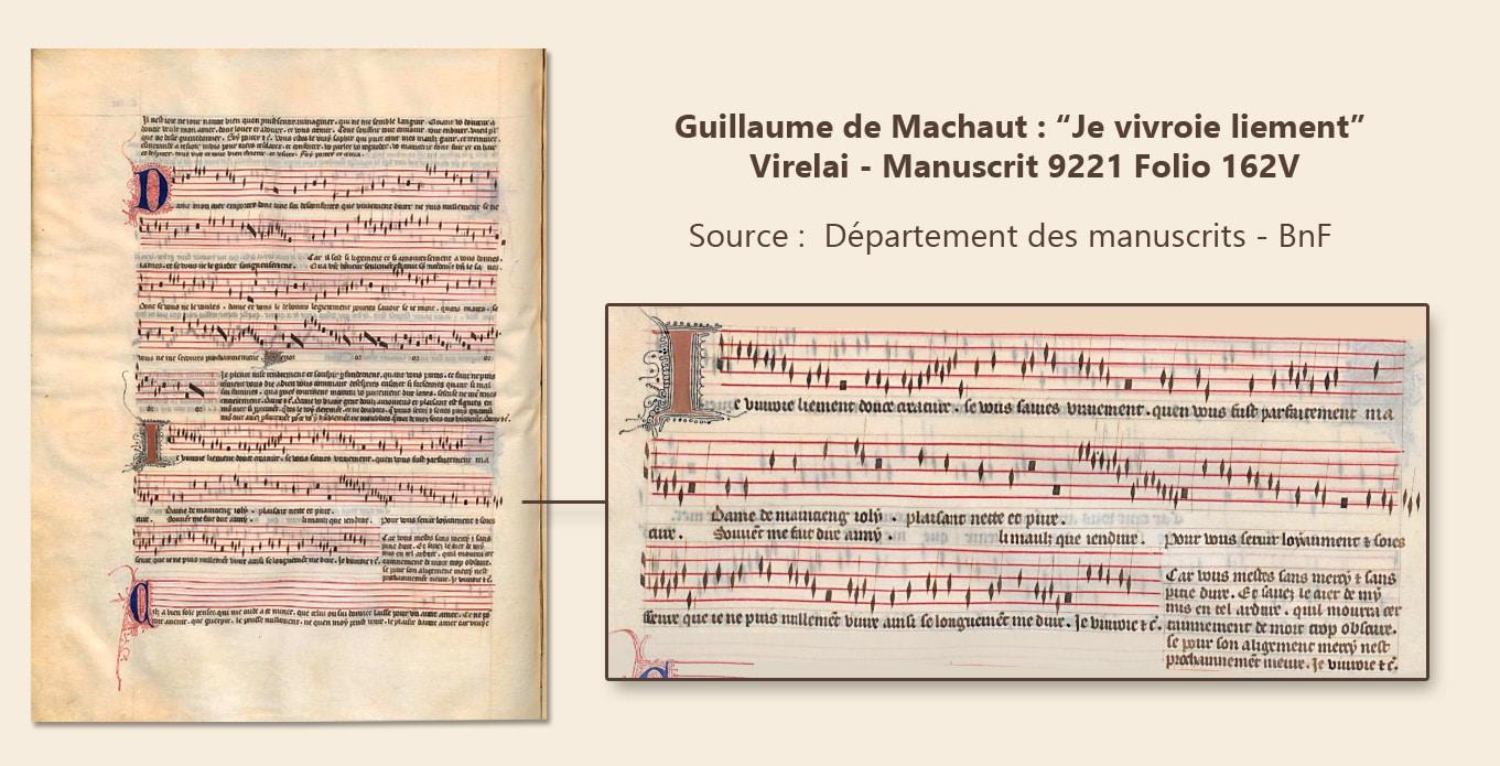 musique_chansons_virelai_medieval_guillaume_de_machaut_je_vivroie_liement_amour_courtois