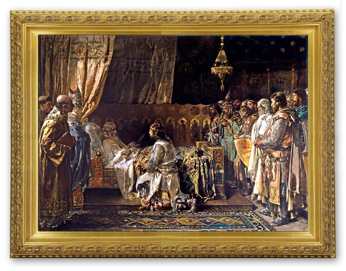 Le testament du Roi Jaume, Huile sur toile du XIX siècle Ignacio Pinazo