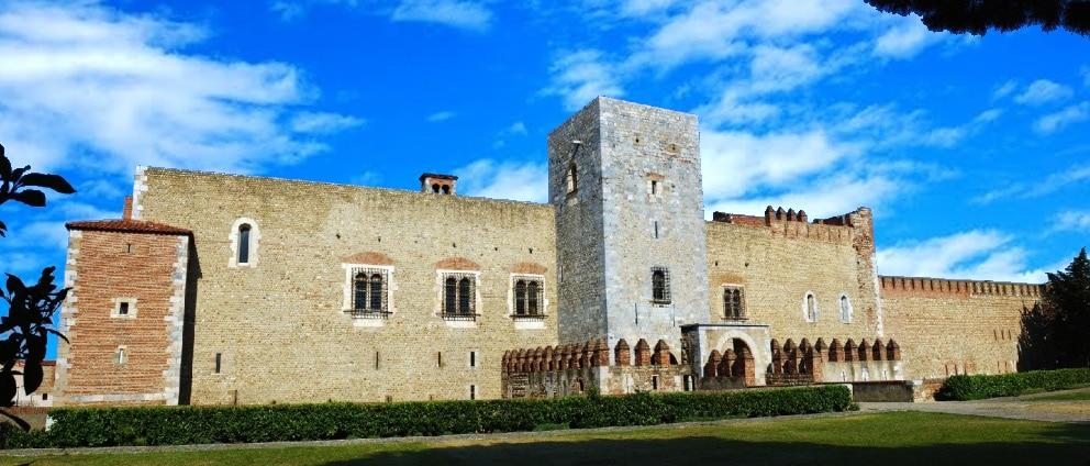 Le palais des rois de Majorque construit à Perpignan par Jaume 1, ou Jacques 1er le conquérant