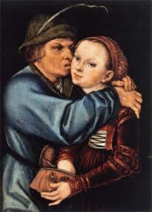 prostitué_et_paysan_prostitution_renaissance_fin_moyen-age_lucas_maler_Cranach