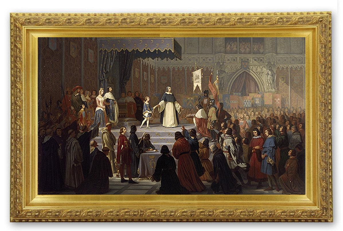 Le rattachement du Dauphiné à la France, en 1349 par Alexandre Debelle, peintre isèrois du début du XIXe siècle
