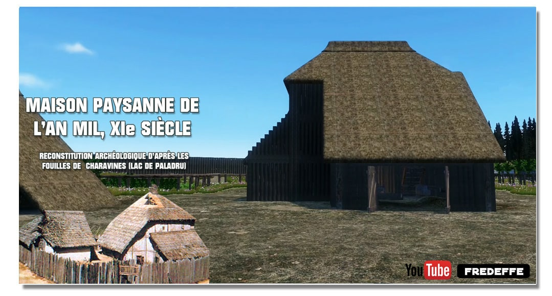 video_mottes_castrales_basse_cour_chateau_fort_ancien_grange_mayson_paysanne_an_1000_charavines_paladru_moyen-age