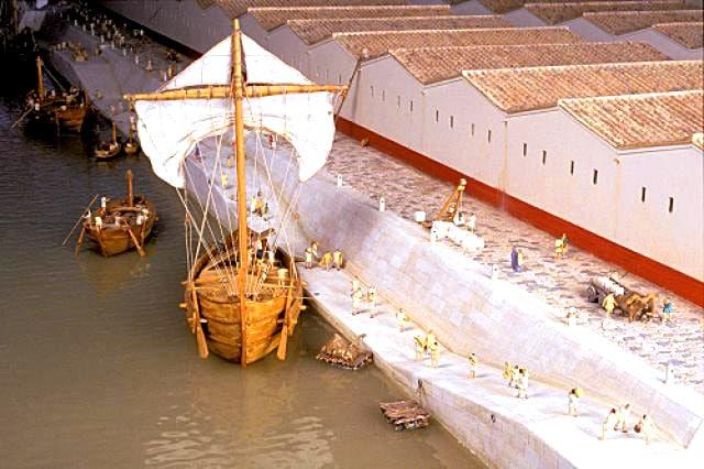 vienne_histoire_antiquite_moyen-ag_port_romain_antiquite_maquette