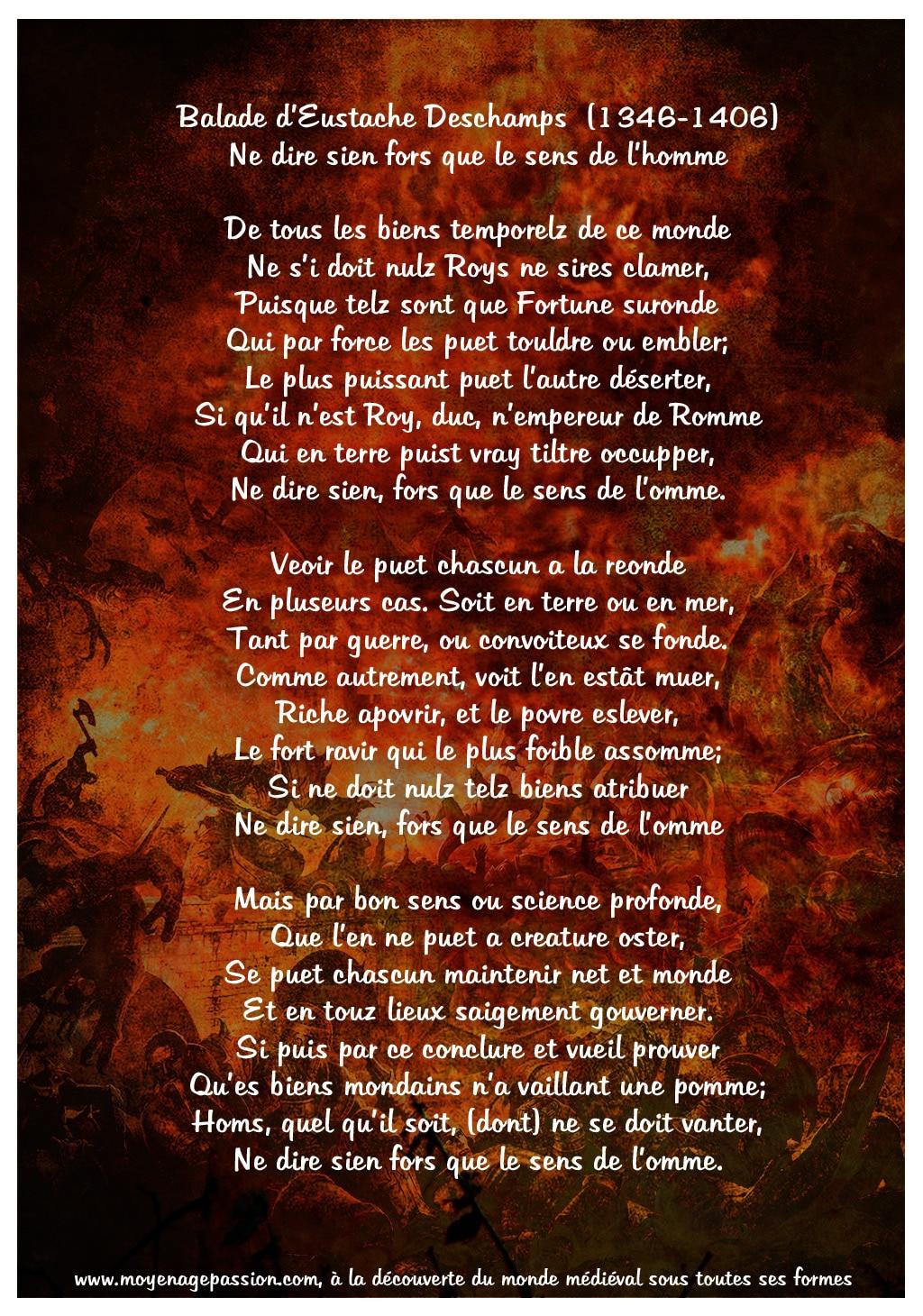 ballade_poetique_politique_morale_poesie_medievale_auteur_eustache_deschamps_vanite_bon_sens